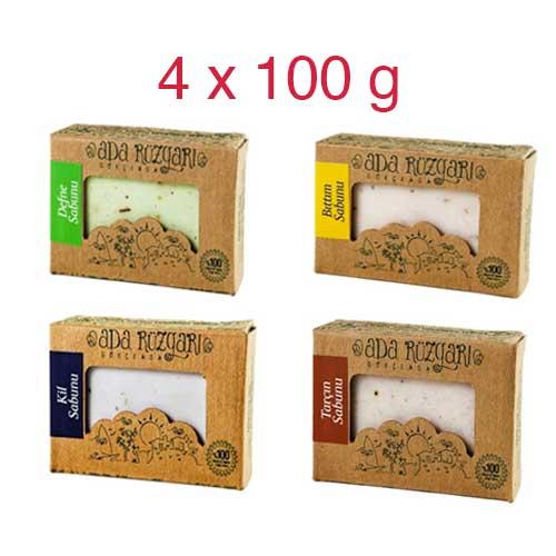 4 x Soaps (Bittim, Laurel, Cinnamon, Clay)