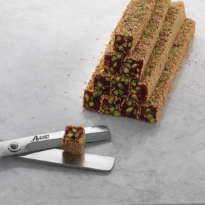 Turkish Delight with Pistachio Covered by Pomegranate Essence Kadayif