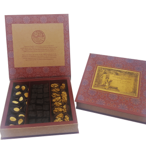Chocolate Coated Turkish Delight with Pistachio, Walnut and Almond, 17.63oz - 500g