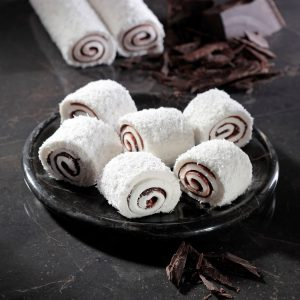 Chocolate Filled Coconut Covered Turkish Delight