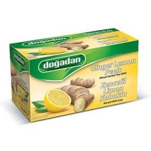 Dogadan - Ginger Lemon Peel Mixed Herbal/Fruit Tea, 20 Tea Bags