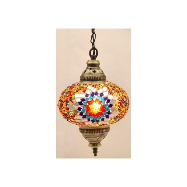 Mosaic Lamp, Blue Star