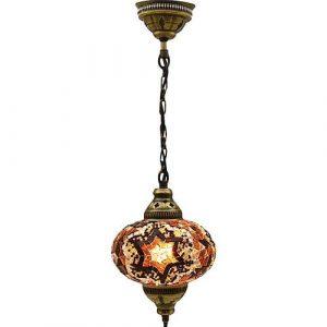 Mosaic Lamp, Brown Star