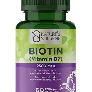 Nature's Supreme Biotin 2500 Mcg 120 Capsules