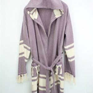 Peshtemal Bathrobe - Diamond Purple