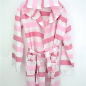 Peshtemal Bathrobe - Rainbow-Pink-White