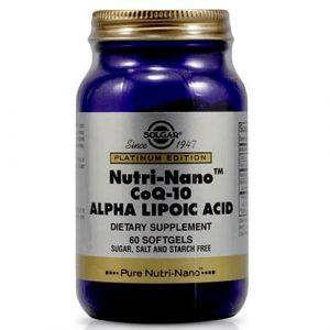 Solgar Nutri-Nano Coq-10 Alpha Lipoic Acid 60 Capsules