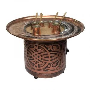 Spiral Model Sand Coffee Machine with + 2 Copper Coffee Pots