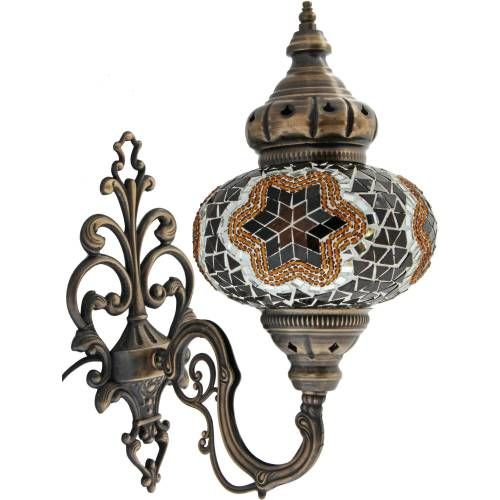 Brown Mosaic Sconce