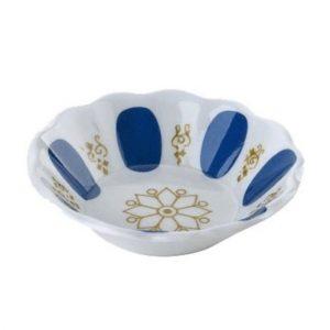 Traditional Blue Turkish Tea Saucers, 12 pieces