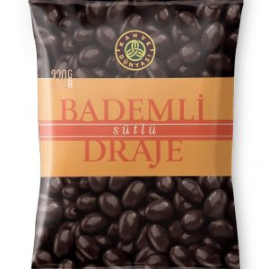 Almond Dragee Covered with Chocolate, 8.1oz - 230g