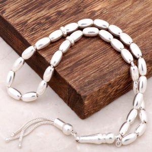 Barley Cut Silver Rosary 95