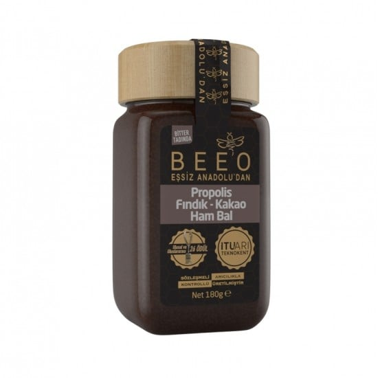 Beeo - Cocoa + Hazelnut + Raw Honey + Propolis, 6.34oz - 180g
