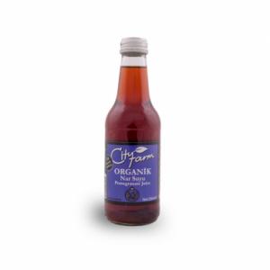CityFarm Organic Pomegranate Juice in Glass Bottle, 8.45oz - 250 ml