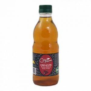 Organic Grape Vinegar in Glass Bottle, 16.9oz - 500ml