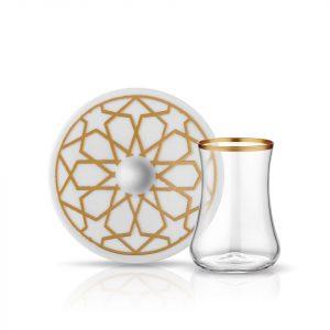 Stars Tea Glass Set (12 Pcs)