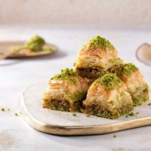 Long-Lasting Dry Turkish Baklava with Pistachio