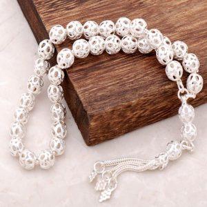 Filigree Handmade Silver Rosary 32