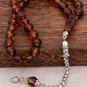 Fossil Scented Amber Rosary 275