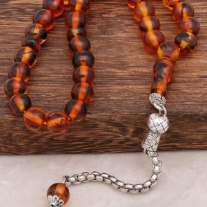 Fragrant Fossil Amber Rosary 274
