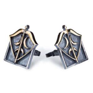 Resurrection Ertuğrul Crescent Arrow Silver Arrow-Bow Cufflinks