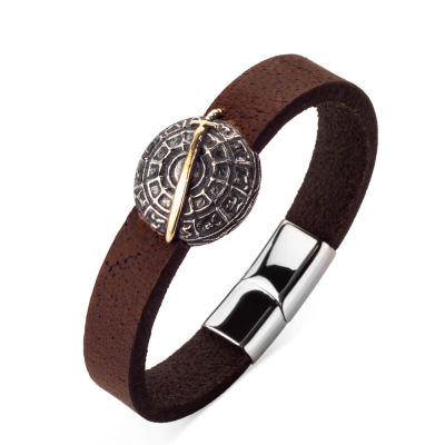 Resurrection Ertuğrul Sword-Shield Leather Bracelet