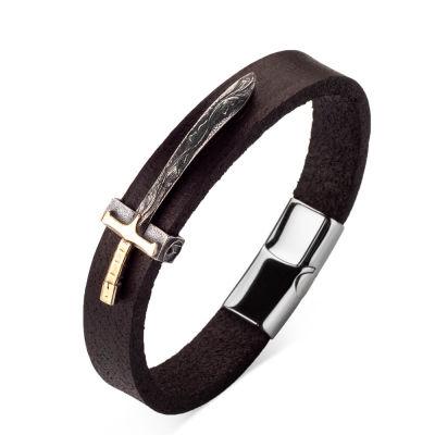 Resurrection Ertuğrul Sword Figured Leather Bracelet