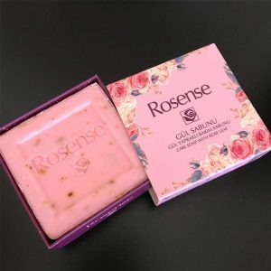 Rosense Turkish Natural Care Soap with Real Rose Leaves