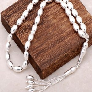 Silver Oversized Design Rosary 127