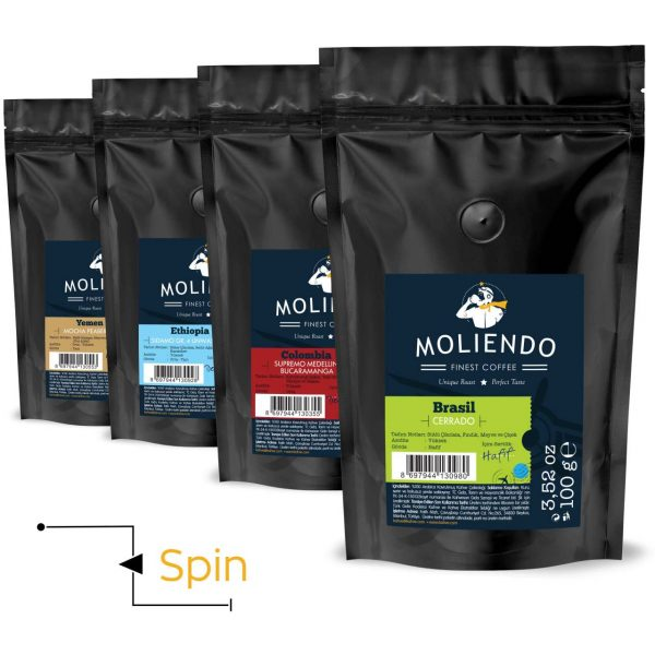 Spin Variant Coffee Pack 4 x 100g (3.52oz)