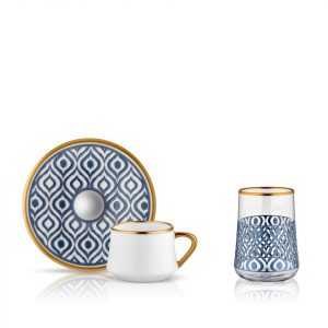 Sufi Coffee Set of 6+6 Cup Anthracite (18 Pcs)