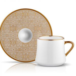 Sufi Tea / Coffee Set of 6 Cup Gold (12 Pcs)