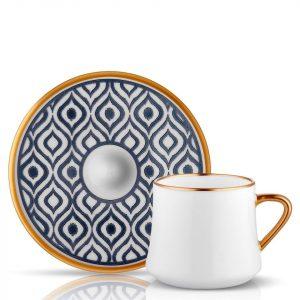 Sufi Tea / Coffee Set of 6 Cup Anthracite (12 Pcs)