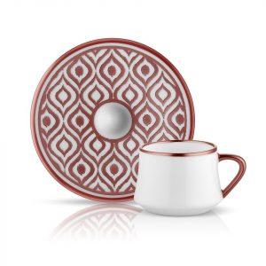 Sufi Coffee Set of 6 Cup Copper (12 Pcs)