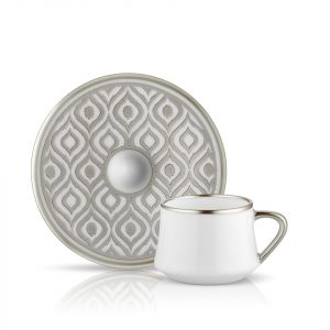 Sufi Coffee Set of 6 Cup Platinum (12 Pcs)