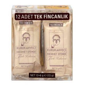 Kurukahveci Mehmet Efendi Turkish Coffee 12 Packs
