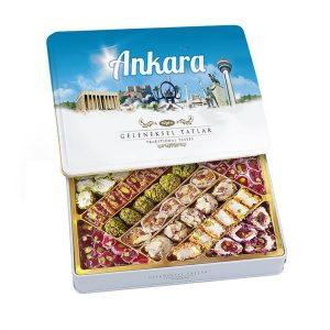 Traditional Turkish Delight in Metal Box, 19.04oz - 540g (Ankara)