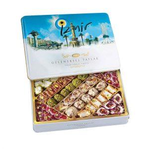 Traditional Turkish Delight in Metal Box, 19.04oz - 540g (İzmir)