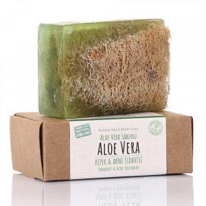 Turkish Natural Handmade Soap Aloe Vera with Organic Zucchini Fiber