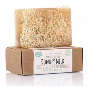 Turkish Natural Handmade Soap Donkey Milk with Organic Zucchini Fiber