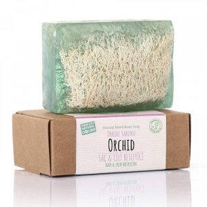 Turkish Natural Handmade Soap Orchid with Organic Zucchini Fiber