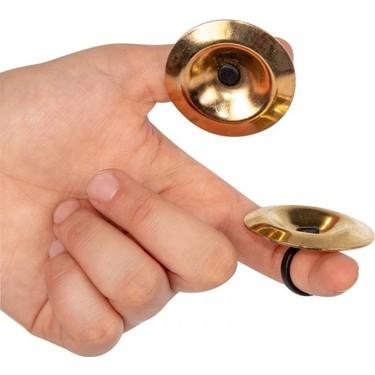 4 Pieces Turkish Oriental Belly Dancer Hand Finger Cymbals Zumba Material