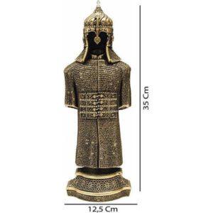 Ottoman Armored Warrior Golden Color Trinket 35 cm