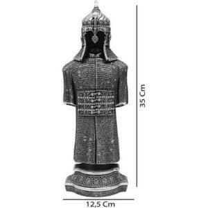 Ottoman Armored Warrior Silver Color Trinket 35 cm