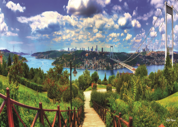 Istanbul Bosphorus Panoramic Scene Jigsaw Puzzle
