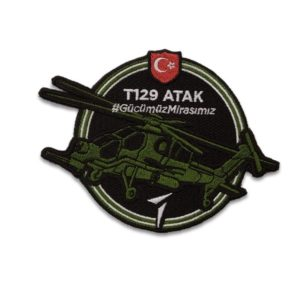 TAI T129 Atak Turkish Attack Helicopter Military Patch