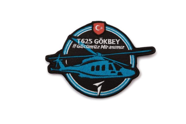 T625 TAI Gokbey Turkish Light Transport/Utility Helicopter Military Patch