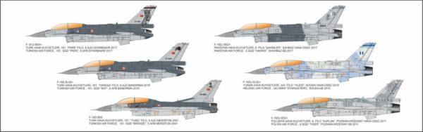 Turkish Air Force TUAF F-16D Fighting Falcon Aircraft 1/32 Model