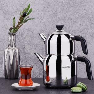 Korkmaz Kappa Black Turkish Tea Maker
