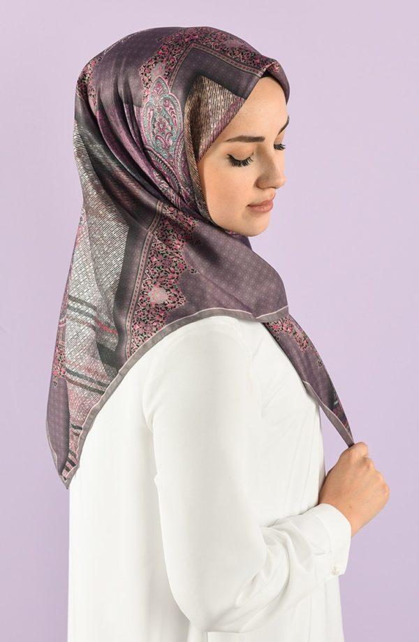 Digital Printed Twill Fabric Hijab Mink Lilac